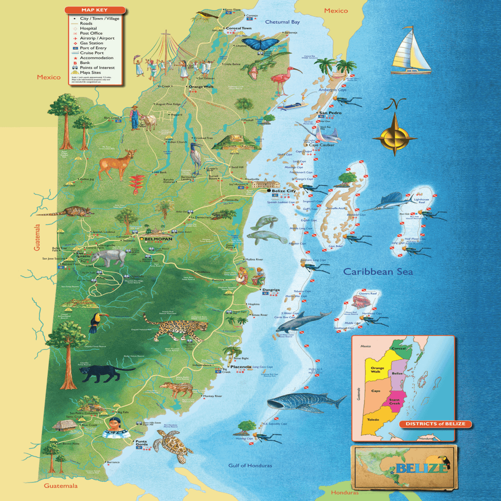 south america map belize Where Is Belize Location Belize Maps Visitor Info Belize south america map belize